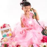 大阪の七五三写真撮影スタジオ・ハニーアンドクランチの7歳女の子ドレス・洋装のフォトギャラリーE109