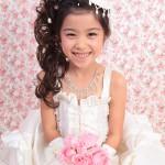 大阪の七五三写真撮影スタジオ・ハニーアンドクランチの7歳女の子ドレス・洋装のフォトギャラリーE112