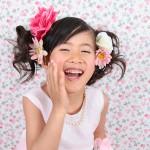 大阪の七五三写真撮影スタジオ・ハニーアンドクランチの7歳女の子ドレス・洋装のフォトギャラリーE116