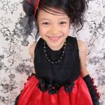 大阪の七五三写真撮影スタジオ・ハニーアンドクランチの7歳女の子ドレス・洋装のフォトギャラリーE120