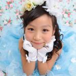 大阪の七五三写真撮影スタジオ・ハニーアンドクランチの7歳女の子ドレス・洋装のフォトギャラリーE121
