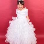 大阪の七五三写真撮影スタジオ・ハニーアンドクランチの7歳女の子ドレス・洋装のフォトギャラリーE124