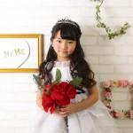 大阪の七五三写真撮影スタジオ・ハニーアンドクランチの7歳女の子ドレス・洋装のフォトギャラリーE125