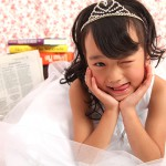 大阪の七五三写真撮影スタジオ・ハニーアンドクランチの7歳女の子ドレス・洋装のフォトギャラリーE127