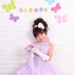大阪の七五三写真撮影スタジオ・ハニーアンドクランチの7歳女の子ドレス・洋装のフォトギャラリーE128