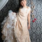 大阪の七五三写真撮影スタジオ・ハニーアンドクランチの7歳女の子ドレス・洋装のフォトギャラリーE129
