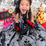 大阪の七五三写真撮影スタジオ・ハニーアンドクランチの7歳女の子ドレス・洋装のフォトギャラリーE130