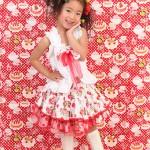 大阪の七五三写真撮影スタジオ・ハニーアンドクランチの7歳女の子ドレス・洋装のフォトギャラリーE131