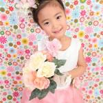 大阪の七五三写真撮影スタジオ・ハニーアンドクランチの7歳女の子ドレス・洋装のフォトギャラリーE132