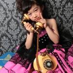 大阪の七五三写真撮影スタジオ・ハニーアンドクランチの7歳女の子ドレス・洋装のフォトギャラリーE143