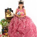 大阪の七五三写真撮影スタジオ・ハニーアンドクランチの7歳女の子ドレス・洋装のフォトギャラリーE148