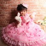 大阪の七五三写真撮影スタジオ・ハニーアンドクランチの7歳女の子ドレス・洋装のフォトギャラリーE154