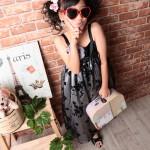大阪の七五三写真撮影スタジオ・ハニーアンドクランチの7歳女の子ドレス・洋装のフォトギャラリーE157