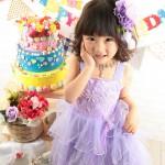 大阪の七五三写真撮影スタジオ・ハニーアンドクランチの7歳女の子ドレス・洋装のフォトギャラリーE158