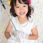 大阪の七五三写真撮影スタジオ・ハニーアンドクランチの7歳女の子ドレス・洋装のフォトギャラリーE162