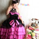 大阪の七五三写真撮影スタジオ・ハニーアンドクランチの7歳女の子ドレス・洋装のフォトギャラリーE165