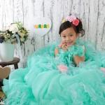 大阪の七五三写真撮影スタジオ・ハニーアンドクランチの7歳女の子ドレス・洋装のフォトギャラリーE168