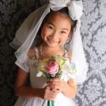 大阪の七五三写真撮影スタジオ・ハニーアンドクランチの7歳女の子ドレス・洋装のフォトギャラリーE172