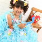 大阪の七五三写真撮影スタジオ・ハニーアンドクランチの7歳女の子ドレス・洋装のフォトギャラリーE173