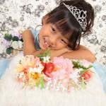 大阪の七五三写真撮影スタジオ・ハニーアンドクランチの7歳女の子ドレス・洋装のフォトギャラリーE177