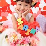 大阪の七五三写真撮影スタジオ・ハニーアンドクランチの7歳女の子ドレス・洋装のフォトギャラリーE179