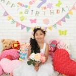 大阪の七五三写真撮影スタジオ・ハニーアンドクランチの7歳女の子ドレス・洋装のフォトギャラリーE178