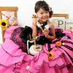 大阪の七五三写真撮影スタジオ・ハニーアンドクランチの7歳女の子ドレス・洋装のフォトギャラリーE180