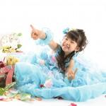 大阪の七五三写真撮影スタジオ・ハニーアンドクランチの7歳女の子ドレス・洋装のフォトギャラリーE181