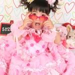 大阪の七五三写真撮影スタジオ・ハニーアンドクランチの7歳女の子ドレス・洋装のフォトギャラリーE183