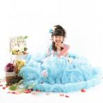 大阪の七五三写真撮影スタジオ・ハニーアンドクランチの7歳女の子ドレス・洋装のフォトギャラリーE184