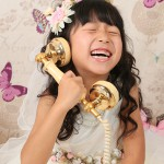 大阪の七五三写真撮影スタジオ・ハニーアンドクランチの7歳女の子ドレス・洋装のフォトギャラリーE186