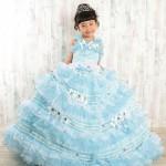 大阪の七五三写真撮影スタジオ・ハニーアンドクランチの7歳女の子ドレス・洋装のフォトギャラリーE189
