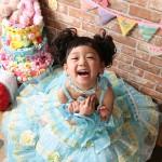 大阪の七五三写真撮影スタジオ・ハニーアンドクランチの7歳女の子ドレス・洋装のフォトギャラリーE192