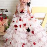 大阪の七五三写真撮影スタジオ・ハニーアンドクランチの7歳女の子ドレス・洋装のフォトギャラリーE193