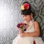大阪の七五三写真撮影スタジオ・ハニーアンドクランチの7歳女の子ドレス・洋装のフォトギャラリーE194