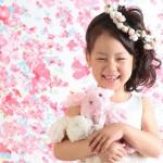 大阪の七五三写真撮影スタジオ・ハニーアンドクランチの7歳女の子ドレス・洋装のフォトギャラリーE195