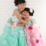 大阪の七五三写真撮影スタジオ・ハニーアンドクランチの7歳女の子ドレス・洋装のフォトギャラリーE198