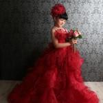 大阪の七五三写真撮影スタジオ・ハニーアンドクランチの7歳女の子ドレス・洋装のフォトギャラリーE201