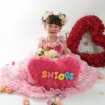 大阪の七五三写真撮影スタジオ・ハニーアンドクランチの7歳女の子ドレス・洋装のフォトギャラリーE203