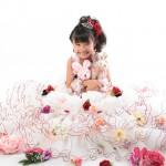 大阪の七五三写真撮影スタジオ・ハニーアンドクランチの7歳女の子ドレス・洋装のフォトギャラリーE204