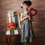 大阪の七五三写真撮影スタジオ・ハニーアンドクランチの7歳女の子ドレス・洋装のフォトギャラリーE205