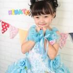 大阪の七五三写真撮影スタジオ・ハニーアンドクランチの7歳女の子ドレス・洋装のフォトギャラリーE206