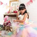 大阪の七五三写真撮影スタジオ・ハニーアンドクランチの7歳女の子ドレス・洋装のフォトギャラリーE207
