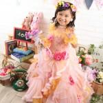 大阪の七五三写真撮影スタジオ・ハニーアンドクランチの7歳女の子ドレス・洋装のフォトギャラリーE208