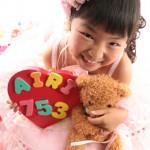 大阪の七五三写真撮影スタジオ・ハニーアンドクランチの7歳女の子ドレス・洋装のフォトギャラリーE214