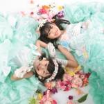 大阪の七五三写真撮影スタジオ・ハニーアンドクランチの7歳女の子ドレス・洋装のフォトギャラリーE215