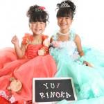 大阪の七五三写真撮影スタジオ・ハニーアンドクランチの7歳女の子ドレス・洋装のフォトギャラリーE216