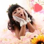 大阪の七五三写真撮影スタジオ・ハニーアンドクランチの7歳女の子ドレス・洋装のフォトギャラリーE217
