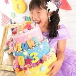 大阪の七五三写真撮影スタジオ・ハニーアンドクランチの7歳女の子ドレス・洋装のフォトギャラリーE218