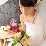 大阪の七五三写真撮影スタジオ・ハニーアンドクランチの7歳女の子ドレス・洋装のフォトギャラリーE219